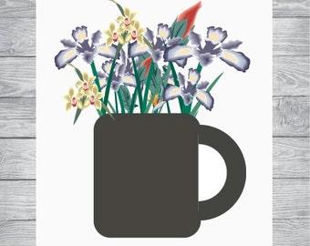 Flower Prints, Flower Printables, Flower Art Prints, Floral Wall Art, Digital Download, Floral Artwork, Flower Art, Printable Flower Art