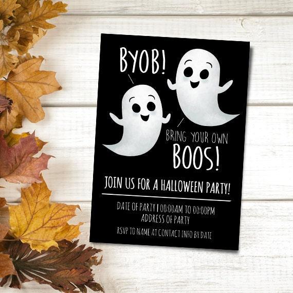 CUSTOM ORDER for a 5x7 Digital Printable Invite Halloween