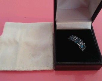 1.9ct swiss blue topaz 925 silver ring