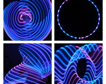 Sections Pink Blue & White LED Hula Hoop