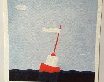 Nautical Buoy Nursery Art