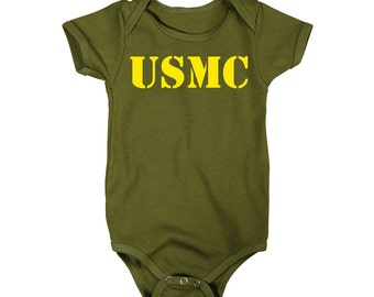 Usmc United States Marine Corps One-Piece T-Shirt Onesie
