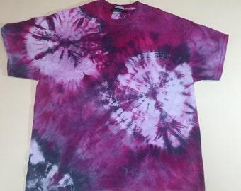 Hand Dyed Shibori Tie Dye Tee Shirt (Size XL)