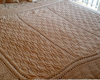 Heirloom Hand Knit Baby Blanket