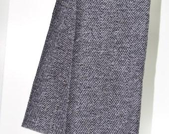 Black and White Herringbone Cashmere Pashmina Scarf Elegant Accessory Soft and Light