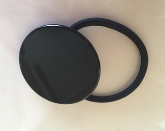 Black Circle Ponytail Holder Elastic Hair Band Hair Elastics