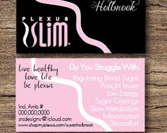 Plexus Business Card Light Pink on Black