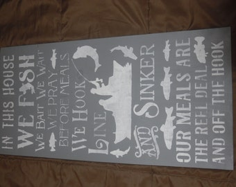 Stenciled Sign Made in USA
