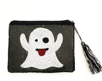 Snapchat Sequin Clutch