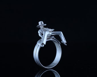 sterling silver cowboy ring