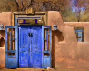 DOORWAY IN BLUE