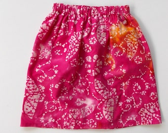 Girls Size 4 Batik Skirt
