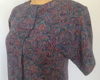 1990s boxy secretary blouse by uniformoda marsol