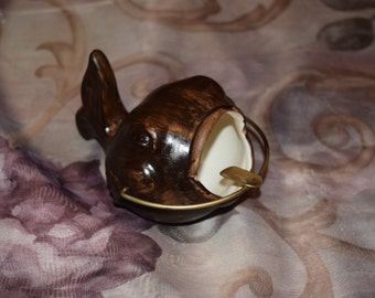 Vintage 1950's Ceramic Fish Ashtray (Free Shipping)