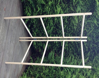 Wooden clothes airer - 2 panel - 4 rungs