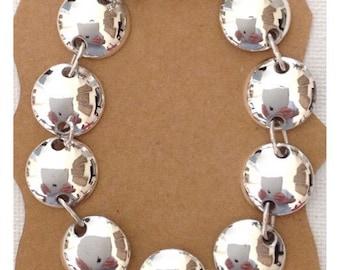 Silver braclete