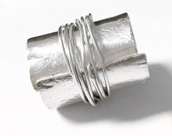 Sterling Silver Jacket Ring