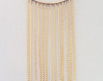 Gold Multi-Chain Fringe Necklace
