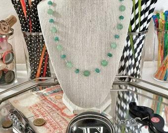 Aquamarine and Jade necklace