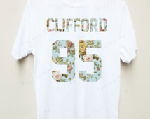 Michael Clifford 5 seconds of summer Band Floral T-shirt Tees Unisex T-shirt S,M,L