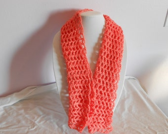 Light and Lacy Orange Scarf