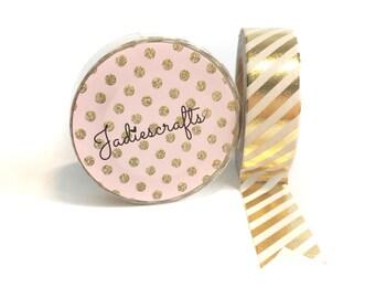 Light Gold Foil Thin Striped Washi Tape