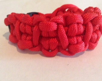 red cabby paracord bracelet
