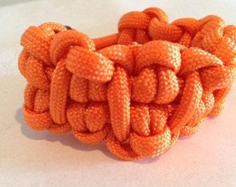 orange cabby paracord bracelet