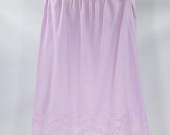 Vintage Half Slip Lavender Lace Trim 1960's Sears
