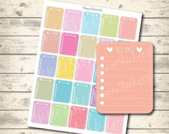 SALE 40% OFF To Do Checklist Printable Eclp, Erin Condren Printable Planner Stickers, Spring Pastel Full Box mixed colors, PDF + Jpeg + Png