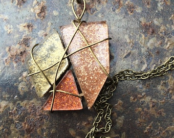 Geometric Necklace (Gold, Bronze, Rose Gold)