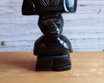 Onyx Aztec Tribal carving.