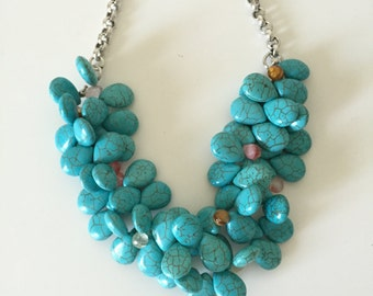 "Beautiful Necklace, One of a Kind Necklace, Trendy Necklace, Striking Necklace, Lady's Necklace, 19"" long.[free shipping]"