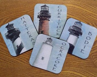 Lighthouse Coasters of the Outer Banks