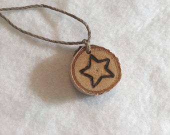 Wooden Star Necklace