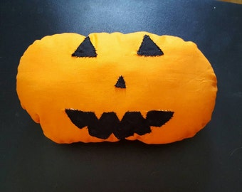Pumpkin Jack O Lantern Halloween Throw Decor Pillow Orange Black
