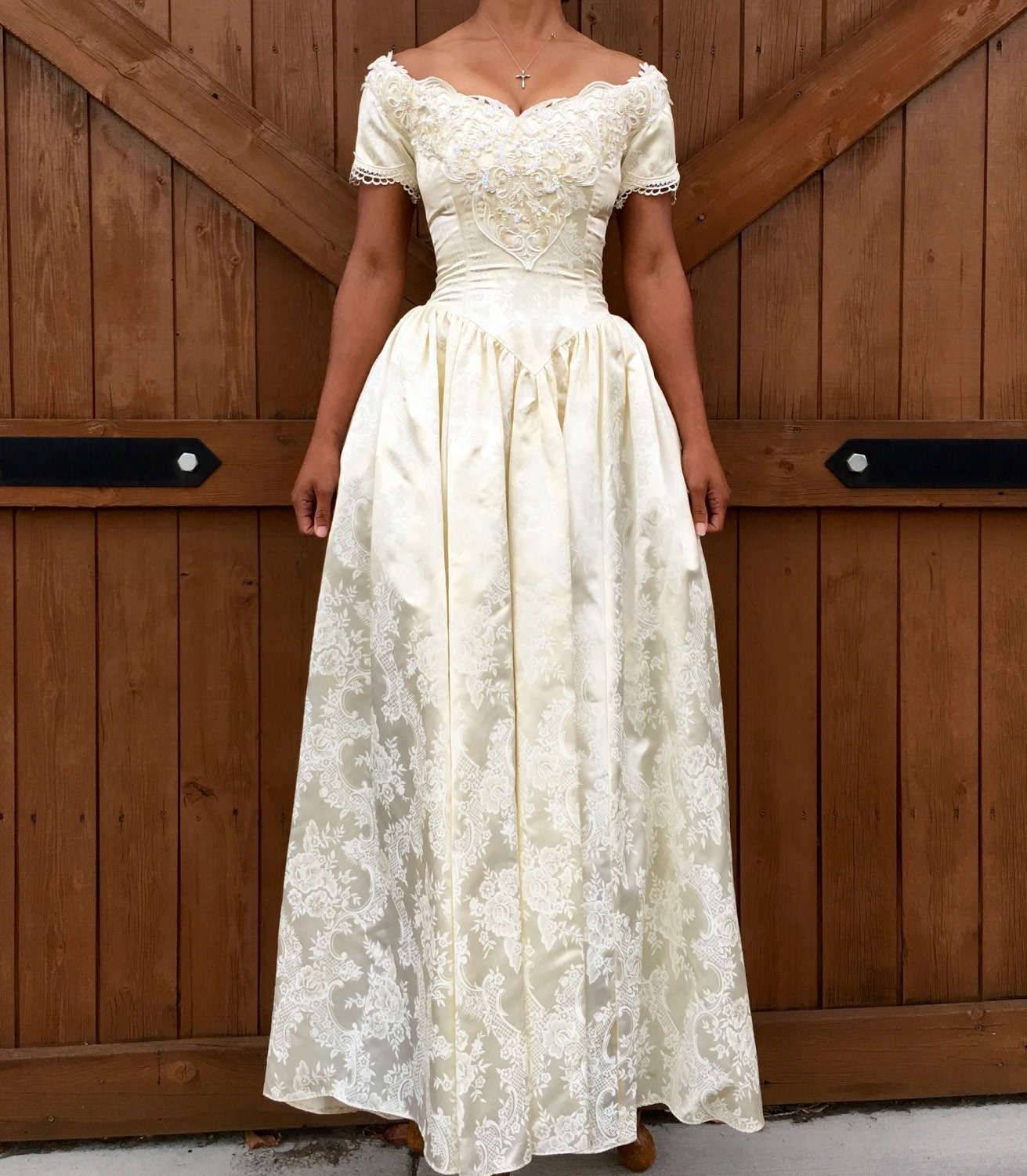 Vintage jessica mcclintock wedding dress for Jessica mcclintock wedding dresses outlet