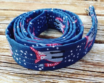 Fabric-Wrapped Dog Leash in Foxes for your Hound