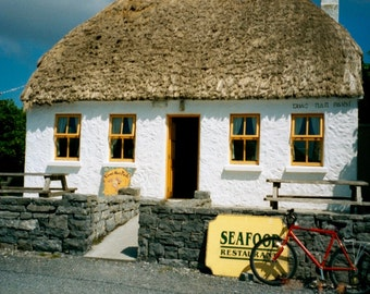 Photograph: Cottage and Bicycle, Aran Islands, Ireland