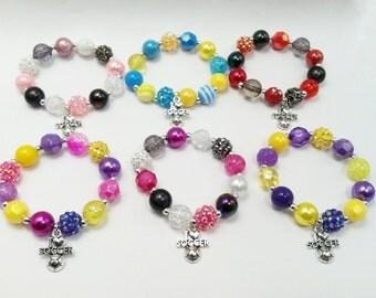 Custom soccer bracelets,- Choose your colors
