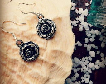 Rose Vintage - Look Earrings Pagan Witch Jewelry