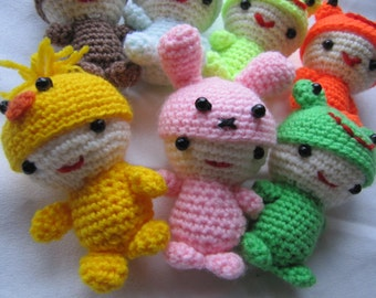 Keychain with animal hats - 10 cm
