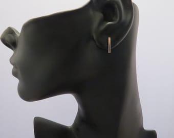 Vertical Bar Earrings Line Earrings Stud Earrings Delicate Earrings Gold Earrings Silver Earrings Minimalist Jewelry Simple Dainty Earrings
