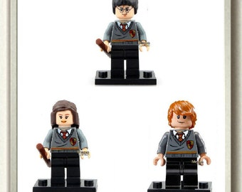 Custom Mini Figures,Block Toys,Cake Topper,Harry Potter Minifigure, Hermione Granger Doll, Ron Weasley Figure, Easter Gift