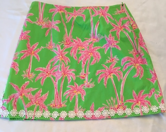 Vintage Lilly Pulitzer Skirt, early 90's Size 8, never worn or barely worn