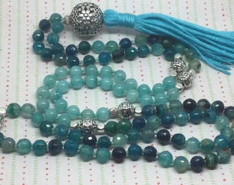Still Water Mala. Meditation, mindfulness, inner peace, calm, prayer.
