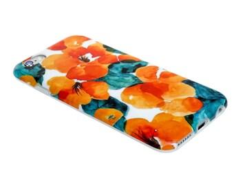 iPhone 6 Case iPhone 6s case  iPhone SE - Cosmos Flowers - Flower Orange - Tropical - Chic - Ultra slim - Mat