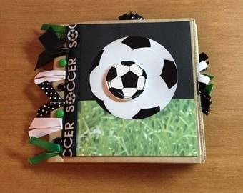 Paper Bag Scrapbook Soccer Theme