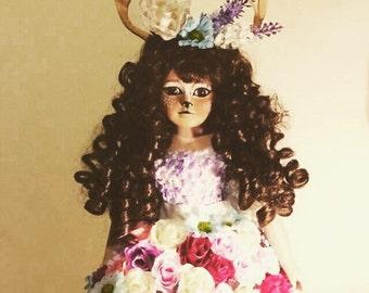 Deer girl porcelain doll