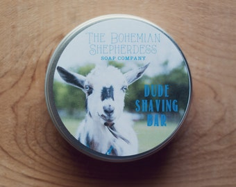 Dude Shaving Bar - Goat Milk Soap, Organic Soap, Farmstead Soap, All Natural Soap, Handmade Soap, Cold Process Soap, Shaving Soap, For Men